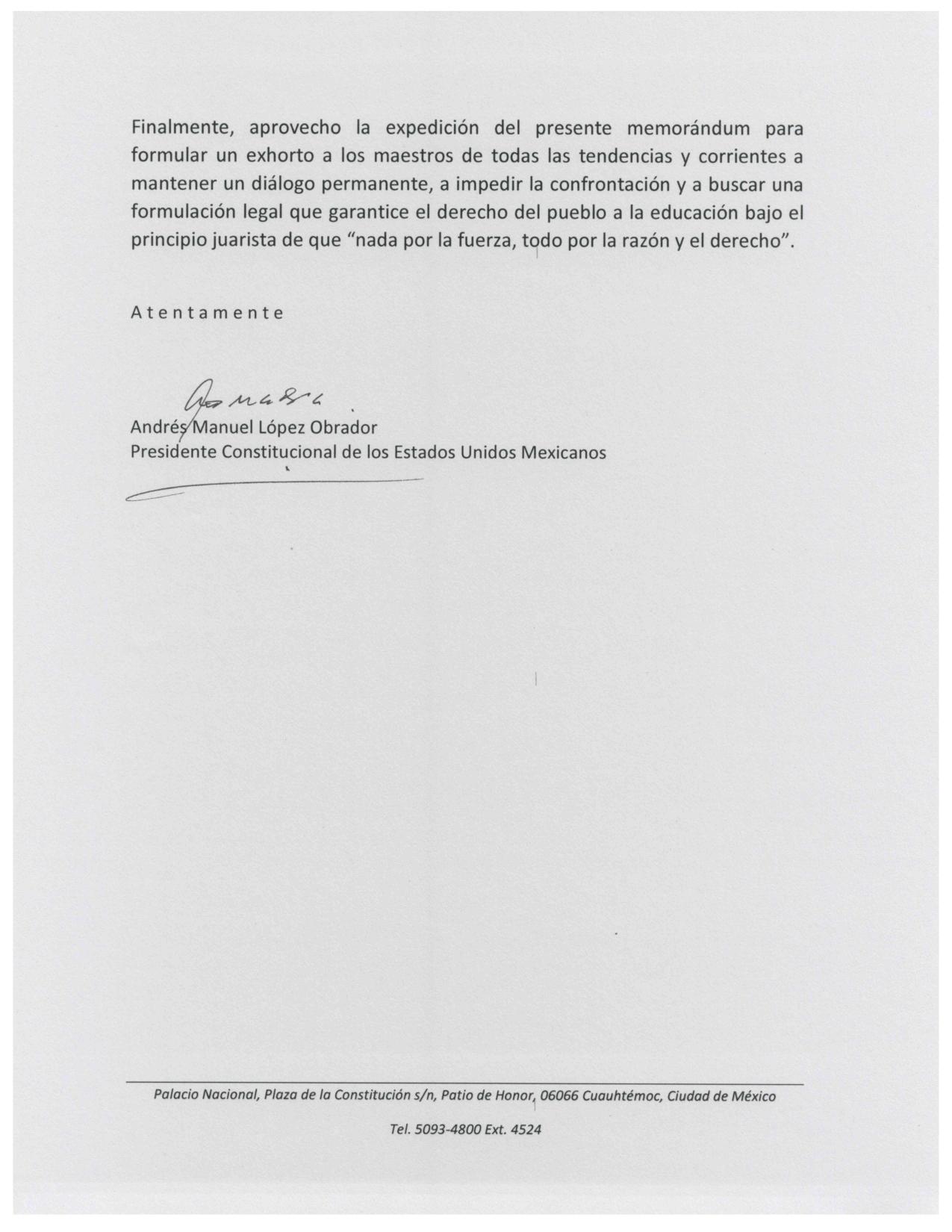 Señalan que documento que firmó AMLO para revocar reforma educativa no existe