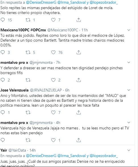 Sandoval y Dresser protagonizan pelea en Twitter por polémica con Bartlett