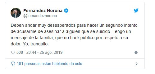 Fernández Noroña y Dross protagonizan pelea en Twitter por una fake news