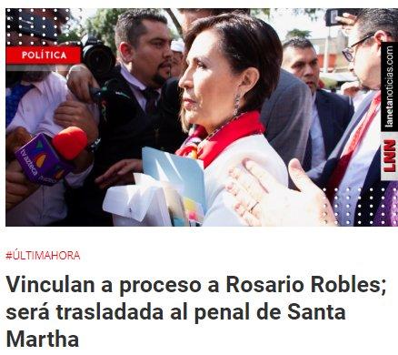 AMLO sobre proceso de Rosario Robles: 'es un logro que no haya impunidad'