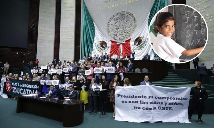 'Educación sin mafia': PAN toma San Lázaro en discusión de reforma educativa. Noticias en tiempo real