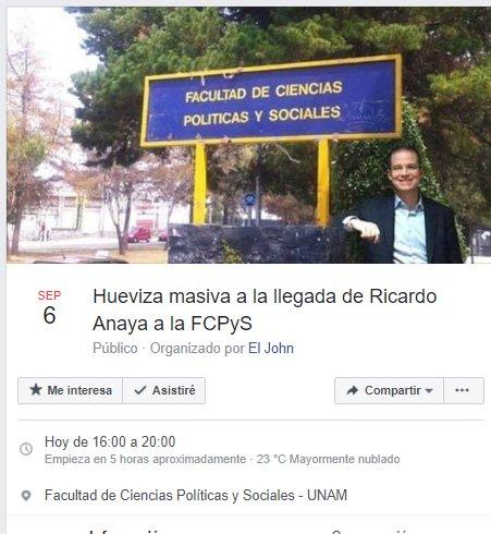 Alumnos toman FCPyS de la UNAM; temen que Anaya afecte autonomía universitaria