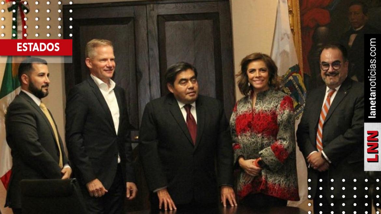 Miguel Barbosa y Olivia Salomón se reúnen con directivos de Volkswagen