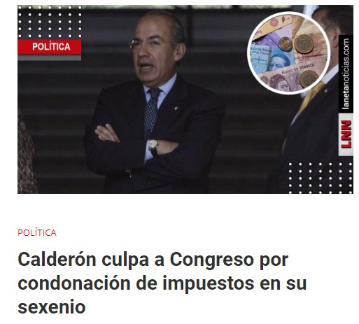 'Condonación de impuestos en sexenios de Calderón y Peña es legal', dice experto