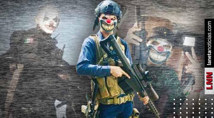 Policías con máscaras de payaso lanzan advertencia a sicarios del CJNG