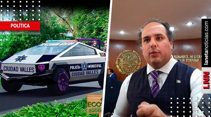 Destrozan a alcalde de SLP por comprar 15 camionetas Tesla