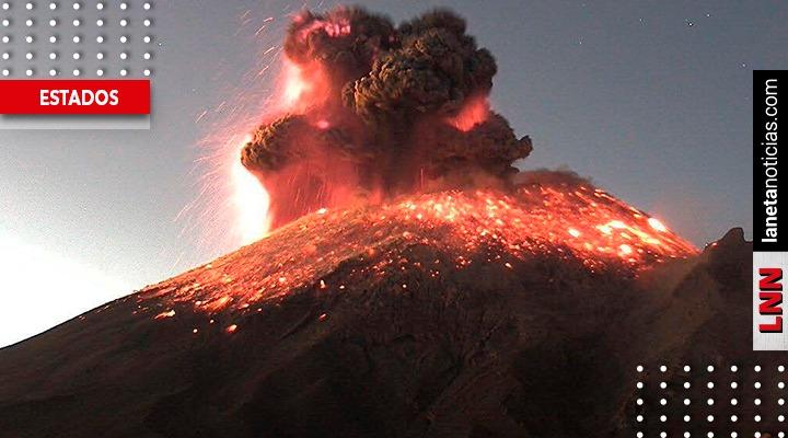 Popocatépetl registra explosión y genera columna de ceniza de 3 kilómetros
