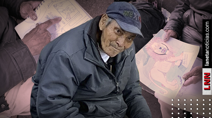 Don Baldemar: el abuelito que vende dibujos para sobrevivir ...