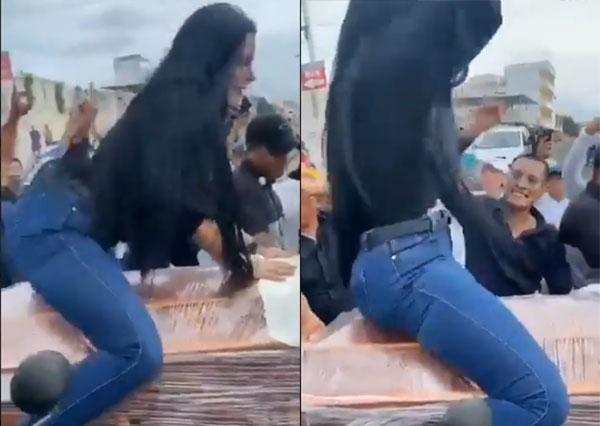 Video de mujer perreando sobre un ataúd causa polémica en redes