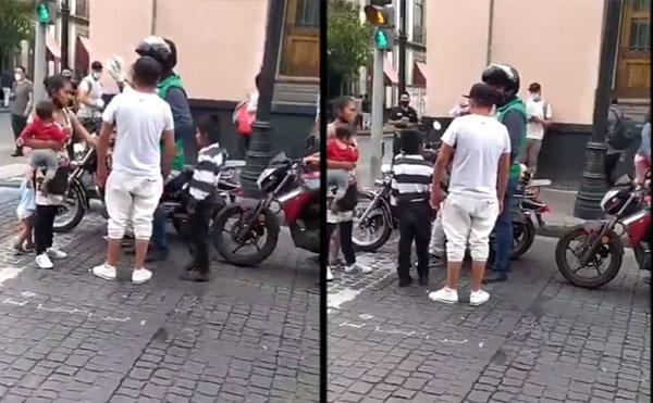 Exhiben a trabajadores de la CDMX que le quitan mercancía a niño (VIDEO)