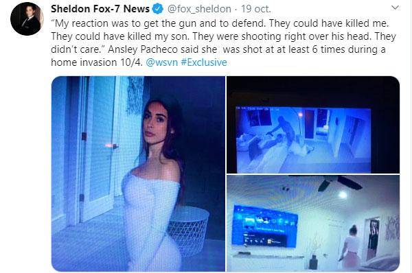 ¿Quién es la modelo en ropa interior que disparó contra ladrones?
